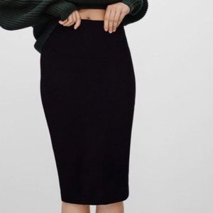 Wilfred Cotton Black Pencil Skirt
